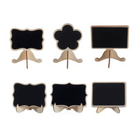 Wholesale chalkboard wedding signs resale online - Wooden Chalkboard With Stand Base Designs Price Tag Display Blackboard Reusable Message Sign Wedding Office Supplies Pieces DHL