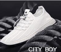 imagem tênis venda por atacado-Reais sapatos Pictures Sports mens sapatos líquida respirável tênis de corrida de malha de verão ocasional antiderrapante versão coreana da tendência da A37 desodorante