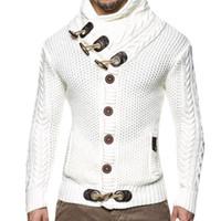 gevşek kazak toptan satış-Moda Rahat Hırka Kazak Ceket Erkekler Gevşek Fit Sonbahar Kış Sıcak Örme Giyim Kazak Palto Erkekler 3xl