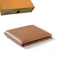 carteras plegables al por mayor-diseñador de carteras de diseño para hombre carteras bolsos de lujo para hombre enérgico cartera corta de diseño billeteras titular de la tarjeta hombres largas dobladas Z004 bolsos m46002