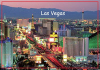 mıknatıslı bantlar toptan satış-Ome Dekor Buzdolabı ABD Seyahat Mıknatıslar Hediyeler Dikdörtgen 78 * 54 * 3mm Şerit Las Vegas Sert Metal Sarılmış Hatıra Buzdolabı Mıknatısları 20 ...