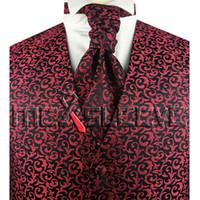 cravate à manches longues achat en gros de-tissu de soie de haute qualité pour hommes costume smoking et gilet cravate ascot ensemble