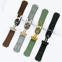 Wholesale 19mm watch buckle resale online - Watch accessories for Hublt mm matte leather silicone strap series mm folding buckle men and women sports rubber strap watch rubber