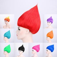 Wholesale kids wigs for sale - Group buy kids Trolls Wig Costume Cosplay Party Supplies Party Cosplay Wig Kid Cosplay Party Supplies Trolls wig KKA7091