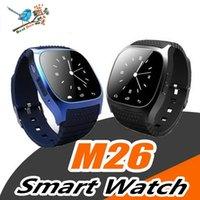 relojes para mujer precios al por mayor-Precio de fábrica M26 Bluetooth Smart Watches M26 Pulsera para iPhone 6 6S Samsung S5 S4 Note 3 HTC Android Teléfono Smartwatch para Hombres Mujeres