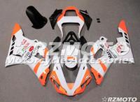 yzf r1 turuncu toptan satış-OEM Kalite Yeni ABS Tam Fairing Kitleri için uygun YAMAHA YZF R1 00 01 YZF1000 2000 2001 R1 Kaporta seti Özel Ücretsiz Beyaz Turuncu