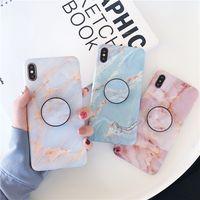 ingrosso telefoni cellulari più caldi-Cassa del telefono di disegno di moda in marmo per iPhone XS MAX XR X 8 7 6s più casi di telefono TPU di vendita caldi con staffa