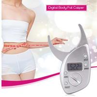 probador de calibre de grasa al por mayor-Calibrador de grasa corporal Tester Escalas Analizadores de monitores de fitness Pliegue digital Adelgazamiento Medición
