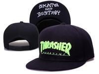 хип-хоп панк-кепки оптовых-Самые продаваемые кепки Snapback Cap punk metal Бейсбольные кепки Flame hip hop brim ретро кепки утки для мужчин