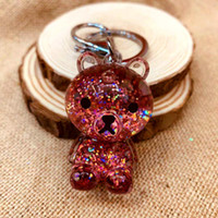 Wholesale New Arrived Powder Moving Oil inlet Liquid Key Ring fantasy keychain Glitter Quicksand Star Keychain Car Key Pendant Creative