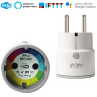 temporizadores de salida al por mayor-Compatibilidad con zócalos inteligentes de la UE WiFi Conector Alexa, Google Home, IFTTT Outlet con temporizador y control remoto a través del teléfono móvil
