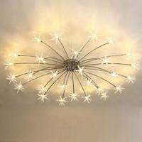 candeeiro de teto para quarto de crianças venda por atacado-Modern LED Luz de Teto Gelo Flor de Vidro Quarto Cozinha Sala de Crianças Lâmpada de Teto Designer de Iluminação Luminárias 110-240 V