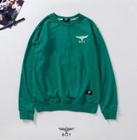 junge london pullover männer groihandel-London Junge Designer klassische Adler Stickerei hochwertigen Pullover Mode für Männer Frauen Sweatshirt Männer Rundhals Luxus Pullover Frottiergewebes