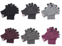 schnelle berührung großhandel-Art- und Weisedame Gloves Adult Jugendlichart und weisestärke gestrickte volle Finger MIttesn Screenhandschuhe Schnelles Verschiffen