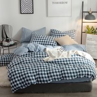 diseñadores de textiles al por mayor-Ms.O Textiles para el hogar a cuadros funda nórdica algodón raya triángulo geométrico diseño impreso juego de cama ropa de cama hecha a mano dormitorio
