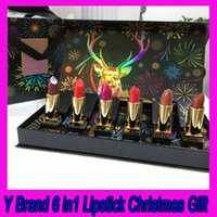 Wholesale high quality brand lipstick resale online - Hot Popular Y Brand Lipstick with a gift box different colors in a box with high quality Christmas Gift