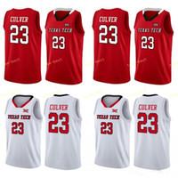 juvenil 23 camisetas rojas de baloncesto al por mayor-Texas Tech 23 Jarrett Culver 25 Davide Moretti Red Raiders Baloncesto cosido Jersey color blanco rojo gris Mens Juventud Jersey de calidad superior