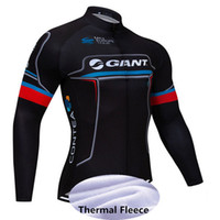 Wholesale giant mtb long sleeve jersey resale online - Men Team GIANT ropa ciclismo hombre Long Sleeve pro cycling jersey mtb bike maillot Winter Thermal Fleece Bicicleta clothing Y051302