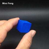 yığın oyunu toptan satış-B190 / 1 adet 2 cm Mavi Renk Ahşap Küp Jenga Blokları Beceri Yığını Yetiştirilen Oyuncaklar Kule Çöküyor Oyunları Çocuklar Hediyeler