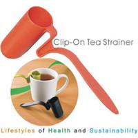 colher de chá de silicone venda por atacado-Saco de chá de silicone infusor coador de folhas soltas colher infusor de chá reutilizável colher coadores de chá ferramentas 3 cores ZZA1087 -1