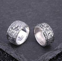 i5 handys großhandel-Neuer 925 Retro-Löwe-Kopf-Silber-Ring für 2019