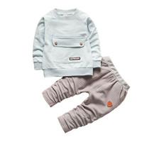 ingrosso vestito da bambino-buona qulaity Baby Boy set di abbigliamento Bebe Girl Sport Suit 2019 Nuovo arrivo Children BoyClothes Set neonato Boy Shirt + Pants Tuta
