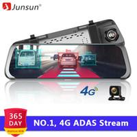 Wholesale android rear mirror dvr resale online - Car DVRs Junsun A931 G ADAS Car DVR Camera Android Stream Media Rear View Mirror FHD