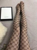seksi tozluklar siyah toptan satış-Ünlü Marka siyah Dantel Örgü Külotlu Çorap Seksi Oymak Mesh tayt hosierys Kadınlar için Sıcak G Mektup Tayt Çorap