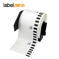 weißes druckerpapier großhandel-1 stück nachfüllrollen thermopapier dk-22205 etikett 62mm * 30,48 mt kontinuierliche kompatibel für brother etikettendrucker weiß papier dk22205