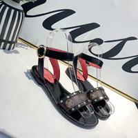 Wholesale platform sandals genuine leather for sale - Designer Luxury sandals platform flat leather shoes luxury sandals with orange box size women slippers on fashion shoes