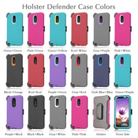 Wholesale armor defender case online – custom For Samsung A10E A20 Lg K40 Stylo iPhone XS Max Plus s Defender Case Armor Holster Cover Moto Z4 Play G7 with Belt Clip