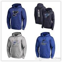 uzun batı ceketi toptan satış-Yeni Erkek Mavi Ceketler St. Louis Blues 2019 Stanley Kupası Batı Konferansı Şampiyonlar Hoodies dikişli açık uzun kollu # 91 vladimir tarase