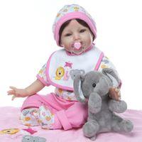 Wholesale alive dolls resale online - Fashion Doll cm Reborn Baby Dolls Realistic Girl Princess inch Baby Dolls Alive Reborns Toddler bebe Toys for kids Gifts