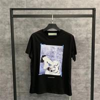 ingrosso magliette di olio-19SS Oversize pittura a olio religiosa Tee T-shirt Uomo Donna 1o: 1 Top Tee di alta qualità Nero O-Collo Estate stile Casual magliette