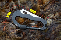 Wholesale multipurpose camping tools for sale - Group buy Outdoor Gadgets EDC Folding Knife Tool Camping Multi Hanging Buckle Hike Mountain Climb Outdoor Gear Multifunctional Carabiner Multipurpose