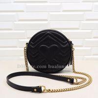 Round Bag Woman Purse cross body Genuine Leather Original box Handbag high quality