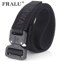 Wholesale military combat buckle for sale - Group buy Fralu Camouflage Military Equipment Tactical Men Swat Combat Knock Off Army Nylon Heavy Duty Paintball Waist Belt C19041101
