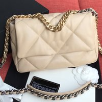 Wholesale high quality hardware resale online - Chain Crossbody Bag Purse Genuine Leather Bags Fashion Hot Sale High Quality Diamond Lattice Hardware Gold Silver Chain Shoulder Bag Wallets