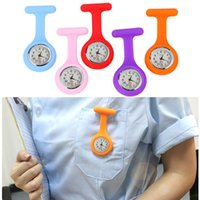 медсестринское наблюдение оптовых-Hot Sell Fashion Pocket Watches Silicone Nurse Watch Brooch Tunic Fob Watch with Clip With Free Battery Doctor Medical reloj de