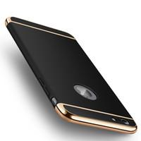 hybrid case großhandel-Slim 3in1 Hybrid Bumper Galvanik Hülle für iPhone 6 6S 7 7 Plus 8 8 Plus 5S SE X XS XR XS max