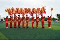 çince ejderha festival kostümleri toptan satış-Çin Ejderha Dansı Yeni Yıl Halk Festivali Kostüm
