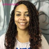 kıvırcık yay toptan satış-3 Paketleri Bahar Büküm Tığ Saç Uzatma Bahar Büküm Saç Kanekalon Sentetik Örgü Saç Ombre Renk Kısa Afro Kinky Kıvırcık Örgü