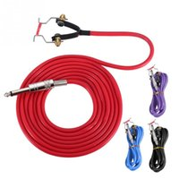 Wholesale interface cord online – 4 Colors Silicone Hook Line Clip Cord for Interface Tattoo Supplies Power Conversion kit Tattoo Power Supply Accessory Clip Cord