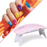 ingrosso macchine per uso domestico-6W chiodo della lampada LED UV Micro USB del gel per unghie che cura macchina per uso domestico attrezzi di arte del chiodo per lampade