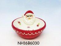 eco stadt großhandel-Weihnachtsschmuck Candy Bowl Keramik Eco-Friendly aus der Weltkeramikstadt Dehua