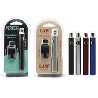 VERTEX LAW Battery Preheating VV Battery Charger Set 1100mAh Voltage Adjustable Batteries Fit 510 Vape Cartridges 4 Colors