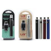 VERTEX LAW Battery Preheating VV Charger Set 1100mAh Voltage Adjustable Batteries Fit 510 Vape Cartridges 4 Colors