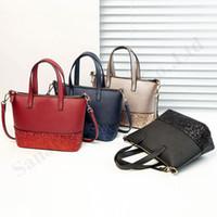 Wholesale leather handbags brands china resale online - Women Purse Brand KS Handbags Glitter Shopping Bags PU Leather Female Fashion Belt Shoulder Bag Duffle Waterproof Messenger Bags C111307