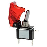 interruptor de 12v cubre al por mayor-5 colores 12V 20A Racing Car Truck Moto Boat Cover LED Botón pulsador Rocker Toggle Switch Control