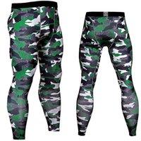 leggings verdes para homens venda por atacado-2018 Homens Calças De Compressão Calças Justas Musculação Ocasional Masculino Calças Marca Camuflagem Do Exército Verde Leggings Skinny